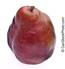 Red Pear - Red pear isolated on white with a clipping path.