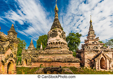 Ava Mandalay state Myanmar - ruins of the ancient kingdom of...