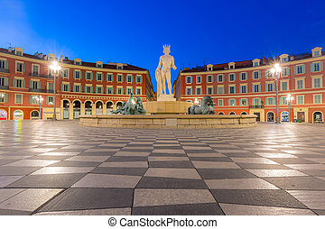 Place Massena square Nice, French Riviera - The Fountain du...
