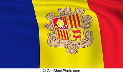 Flying Flag of Andorra | LOOPED |