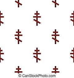 Cross pattern flat