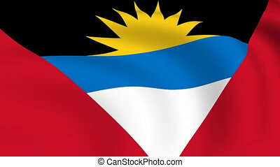 Flying Flag of Antigua and Barbuda | LOOPED |