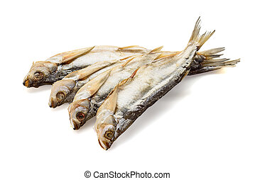 Salted fish isolated on white background