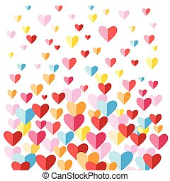 Festive background with multi-colored hearts - Festive vivid...
