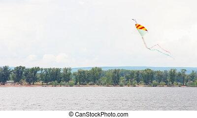 Kite flying in the sky - Kite flying against the background...