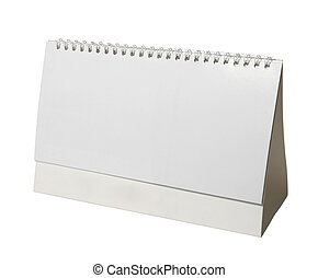 desk calendar business - close up of a desk calendar on...