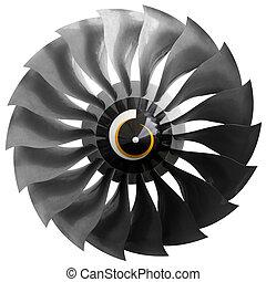 fan, Flygplan, motor, nymodig,  turbofan