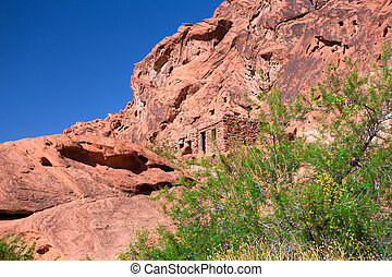 Cabins Valley of Fire - Stone cabins at Valley of Fire State...