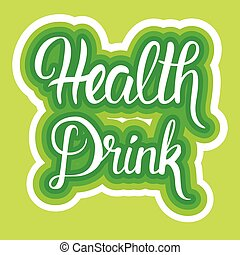 Health Drink Organic Eco Food Stickers Healthy Lifestyle