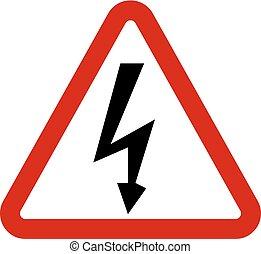 High Voltage Sign. Danger symbol.