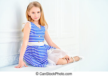 childrens fashion collection - Cute little girl in a...
