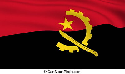 Flying Flag of Angola | LOOPED |