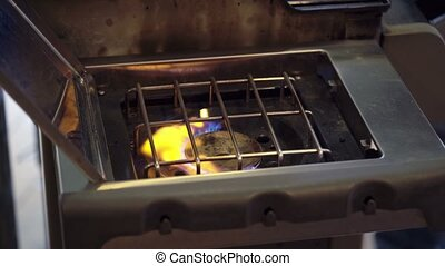 Gas cooker turn on and off