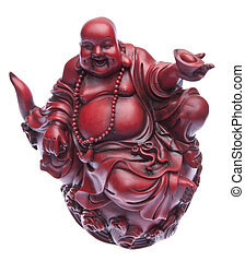 Happy Buddah Statue - Red happy fat buddah statue.