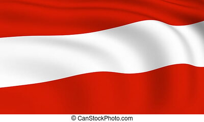 Flying Flag of Austria | LOOPED |