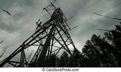 Electric support of high voltage power cables. Energy...