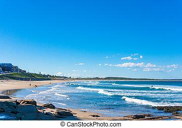 Ocean beach and coastline at sunny day. Cronulla, Australia