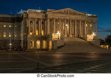 US House of Representatives At Night