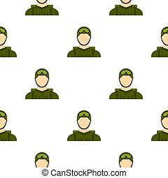 Military paratrooper pattern flat