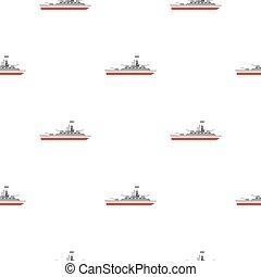 Warship pattern flat - Warship pattern seamless flat style...