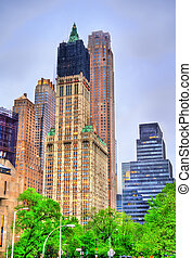 Buildings in Lower Manhattan, New York