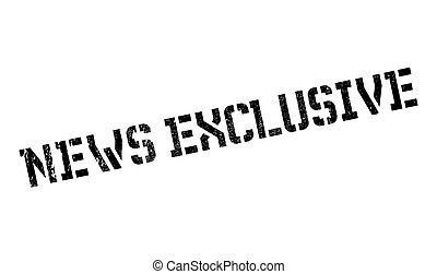 News Exclusive rubber stamp. Grunge design with dust...