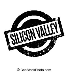 Silicon Valley rubber stamp. Grunge design with dust...