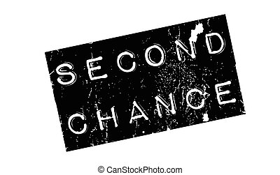 Second Chance rubber stamp. Grunge design with dust...