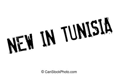 New In Tunisia rubber stamp. Grunge design with dust...