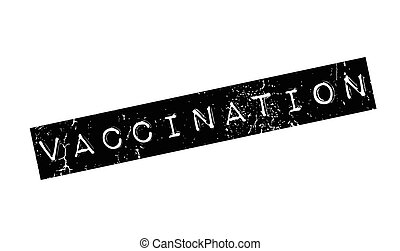 Vaccination rubber stamp. Grunge design with dust scratches....