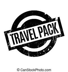 Travel Pack rubber stamp. Grunge design with dust scratches....