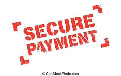 Secure Payment rubber stamp. Grunge design with dust...