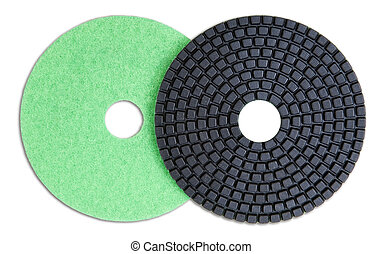 Polishing Pads - Isolated polishing pads for stone, granite...