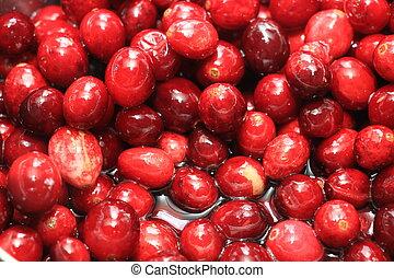 Homemade cranberry sauce - Preparing homemade cranberry...