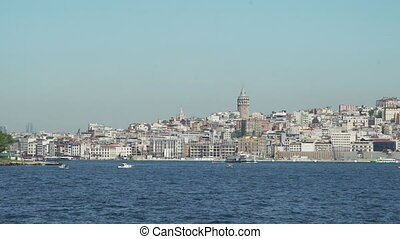 View of historic architecture and Galata tower