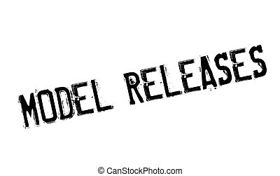 Model Releases rubber stamp. Grunge design with dust...