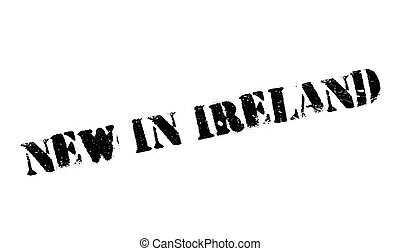 New In Ireland rubber stamp. Grunge design with dust...