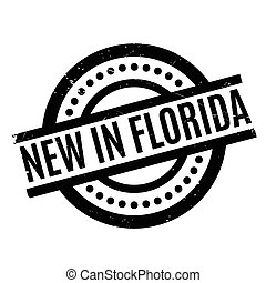 New In Florida rubber stamp. Grunge design with dust...