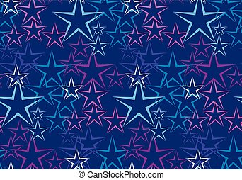 Five rayed star decorative background. vector seamless...