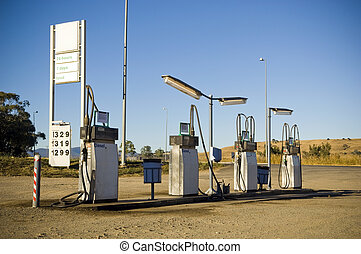 Service Station - Generic service gas station in remote...