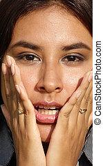 Startled Hispanic Girl