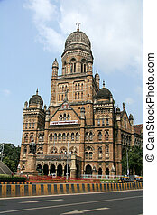 VICTORIA, término, Mumbai, Índia