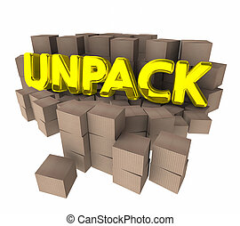 Unpack Cardboard Boxes Packages Understand Ideas 3d...
