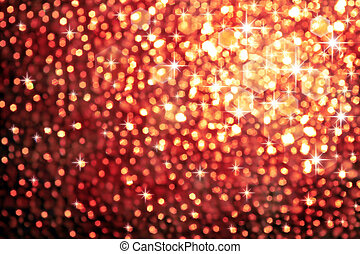 sparkling lights - Abstract golden background of sparkling...