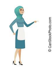 Young muslim furious cleaner screaming. - Furious muslim...