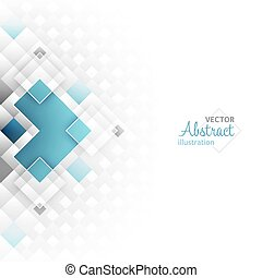 Abstract vector futuristic background with square shapes. -...