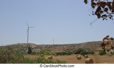 Wind generator at work video on Cyprus island - Wind...