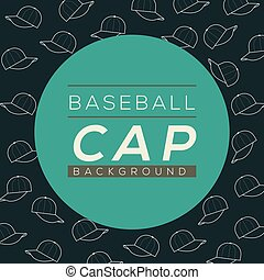 Baseball Caps Background Vector Illustration