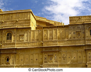 Jaisalmer - The amazing fort city of Jaisalmer in Rajasthan,...