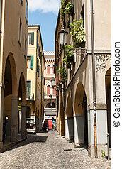 The historic city center of Padua. Italy - PADUA, ITALY -...